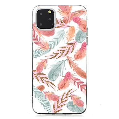 Недорогие Кейсы для iPhone 7 Plus-чехол для apple iphone 11 / iphone 11 pro / iphone 11 pro max ультратонкая задняя крышка перья тпу для iphone xs max / xs / xr / x / 7/8 plus / 6s plus / 5 / 5s / se