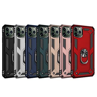 Недорогие Кейсы для iPhone 6 Plus-Кейс для Назначение Apple iPhone 11 / iPhone 11 Pro / iPhone 11 Pro Max Защита от удара / Кольца-держатели Кейс на заднюю панель Однотонный ТПУ / ПК