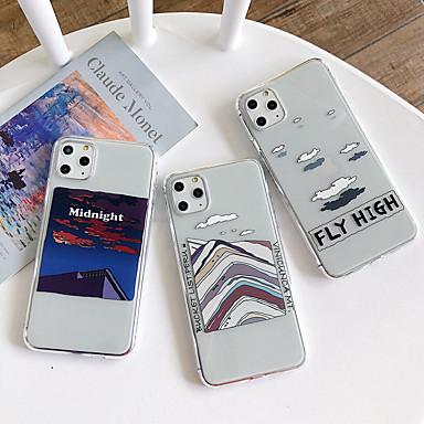Недорогие Кейсы для iPhone 7 Plus-Кейс для Назначение Apple iPhone 11 / iPhone 11 Pro / iPhone 11 Pro Max Защита от удара Кейс на заднюю панель Прозрачный / Пейзаж ТПУ
