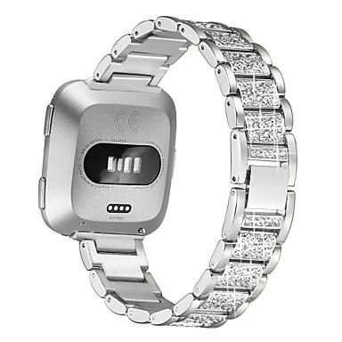 Недорогие Аксессуары для смарт-часов-ремешок для часов fitbit versa / fitbit versa 2 fitbit ювелирный дизайн браслет из нержавеющей стали ремешок с бриллиантом