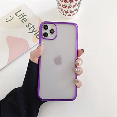 Недорогие Кейсы для iPhone 6-чехол для яблока iphone 11 / iphone xs / iphone xr покрытие / матовая задняя крышка сплошной цвет тпу x xs xsmax xr 7 7plus 8 8plus 6 6plus