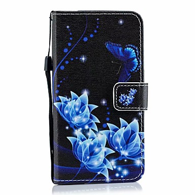 Недорогие Кейсы для iPhone 6 Plus-чехол для яблока iphone 11 / iphone 11 про макс дворцовый цветок искусственная кожа с слотом для карт вверх и вниз для iphone5 / 6/7/8 / 6p / 7p / 8p / x / xs / xr / xs mas