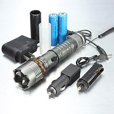 UltraFire 5 Lanterne LED Rezistent la apă Zoomable 1000/1200/2000 lm LED LED 1 emițători 5 Mod Zbor Cu Baterie și Încărcător Rezistent la apă Zoomable Reîncărcabil Focalizare Ajustabilă Camping