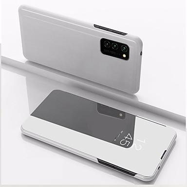 Недорогие Чехлы и кейсы для Galaxy S-Кейс для Назначение SSamsung Galaxy S9 Plus / S8 Plus / S8 Защита от удара / Зеркальная поверхность / Флип Чехол Однотонный Кожа PU / Акрил