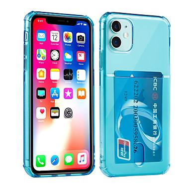 Недорогие Кейсы для iPhone 6 Plus-Кейс для Назначение Apple iPhone 11 / iPhone 11 Pro / iPhone 11 Pro Max Бумажник для карт / Защита от удара Кейс на заднюю панель Однотонный ТПУ