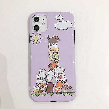 Недорогие Кейсы для iPhone 6 Plus-чехол для яблока карта сцены iphone 11 11 pro 11 pro max x xs xr xs max 8 рисунок мультфильма кошка яркий материал тпу imd процесс все включено чехол для мобильного телефона ckf
