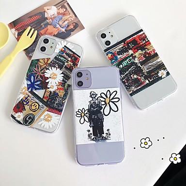 Недорогие Кейсы для iPhone 7 Plus-чехол для карты яблока сцены iphone 11 x xs xr xs макс. 8 рисунок картины мультфильм прозрачный толстый тпу материал все включено чехол для мобильного телефона