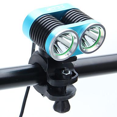 olcso Búvárlámpa-LED Kerékpár világítás Kerékpár világítás Kerékpár első lámpa LED Kerékpár Kerékpározás Újratölthető 18650 2400 lm AkkumulátorBattery Kerékpározás / Alumínium ötvözet / IPX-4