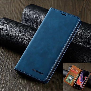 cheap Samsung Case-Luxury Leather Case for Samsung Galaxy S20 S20 Plus S20 Ultra S10 S10E S10 Plus S10 5G S9 S9 Plus A51 A71 A10 A20 A30 A40 A50 A70 A70S A20E A50S A30S M10 Forwenw Leather Case Magnetic Flip