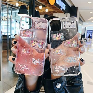 Недорогие Кейсы для iPhone 7 Plus-милый сладкий конфеты чехол для яблока iphone 11 / iphone 11 pro / iphone 11 pro max ударопрочный / ультратонкий / прозрачный задняя крышка слово / прозрачный тпу