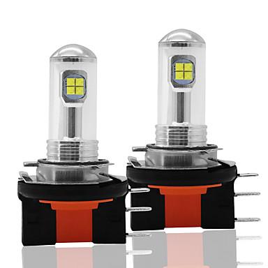 Недорогие Противотуманные фары-2шт автомобиль светодиодный h15 8smd 2525 противотуманные фары лампы 12 В drl дневного света авто задний фонарь лампы 6000 К боковые фонари белый