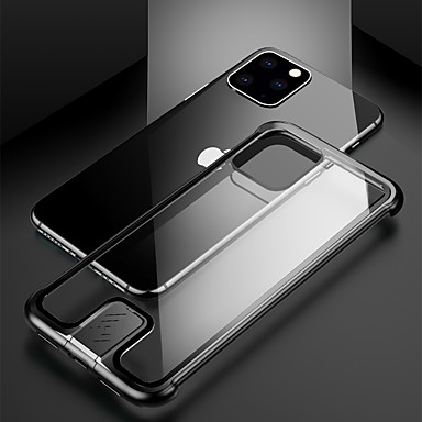 Недорогие Кейсы для iPhone 7-Кейс для Назначение Apple iPhone 11 / iPhone 11 Pro / iPhone 11 Pro Max Защита от удара Кейс на заднюю панель Однотонный Металл
