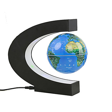 cheap Smart Home-Hot Magnetic Levitation Floating Globe C Shape World Map Smart Lights for Living Room / Study / Bedroom Safety / Creative / Quiet and Mute 220 V