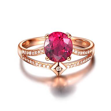 povoljno Prstenje-Žene Prsten Kubični Zirconia 1pc Crvena Plava Platinum Plated Legura Stilski Dnevno Jewelry Slatko