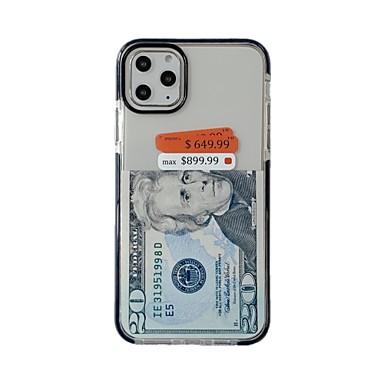 povoljno iPhone maske-kućište usd za jabuke iphone 11 / iphone 11 pro / iphone 11 pro max ultra tanko / uzorak stražnji poklopac prozirni tpu s dvije boje ivice