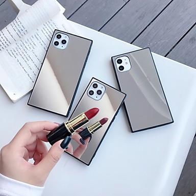 Недорогие Кейсы для iPhone 6-чехол для карты сцены яблока iphone 11 x xs xr xs макс. 8 зеркальное стекло задняя панель тпу рама 2-в-1 квадратный четыре угла водонепроницаемый противоударный чехол для мобильного телефона