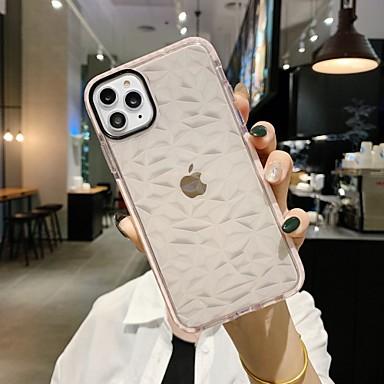 Недорогие Кейсы для iPhone 6 Plus-чехол для карты сцены яблока iphone 11 x xs xr xs макс. 8 ромбовидной серии защита линз серия утолщенный тпу материал против падения универсальный чехол для мобильного телефона krs