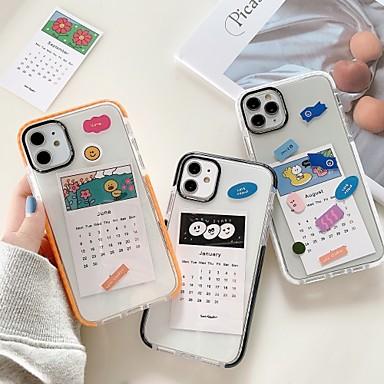 Недорогие Кейсы для iPhone-Кейс для Назначение Apple iPhone 11 / iPhone 11 Pro / iPhone 11 Pro Max Защита от удара / Ультратонкий / Прозрачный Кейс на заднюю панель / Бампер Прозрачный / Геометрический рисунок / Мультипликация