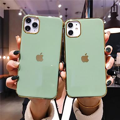 Недорогие Кейсы для iPhone 6-чехол для apple iphone 11 / iphone 11 pro / iphone 11 pro max обшивка задняя крышка сплошной цвет тпу x xs xsmax xr 7 7 плюс 8 8 плюс 6 6 плюс