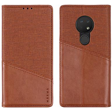 Недорогие Чехлы и кейсы для Nokia-Кейс для Назначение Nokia Nokia 8 / Nokia 7 / Nokia 7 Plus Бумажник для карт / Защита от удара Чехол Однотонный Кожа PU
