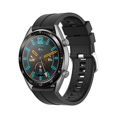 Недорогие Ремешки для часов Huawei-Huawei часы силиконовый ремешок для часов GT элегантный спортивный ремешок высокого класса моды мягкий комфортный силиконовые здоровья браслеты 21,5 мм