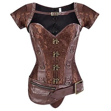 povoljno Darovi i pokloni za zabave-Veći konfekcijski brojevi POLY Steznik Sexy Kolaž Party / večernja odjeća Vezivanje Gothic Style