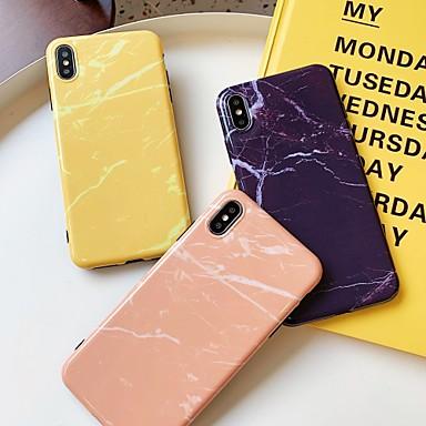 Недорогие Кейсы для iPhone 7 Plus-Кейс для Назначение Apple iPhone 11 / iPhone XS / iPhone XR Защита от удара / Ультратонкий Кейс на заднюю панель Однотонный / Мрамор ПК