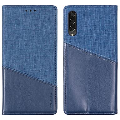 Недорогие Чехлы и кейсы для Galaxy Note-Кейс для Назначение SSamsung Galaxy S9 / S9 Plus / A5(2018) Бумажник для карт / Защита от удара Чехол Однотонный Кожа PU