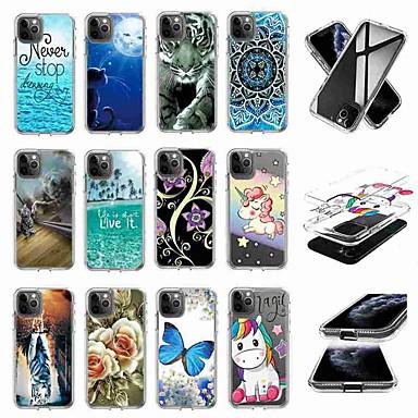 Недорогие Кейсы для iPhone 7 Plus-чехол для яблока iphone 11 / iphone 11 pro / iphone 11 pro max прозрачный / шаблонная задняя крышка карты прозрачный чехол тпу для iphone x / xs / xr / xs max / 8 plus / 8