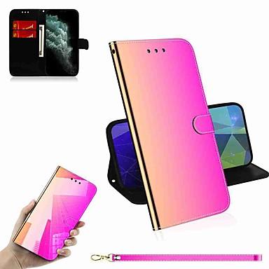 Недорогие Кейсы для iPhone 7-чехол для яблока iphone 11 / iphone 11 pro / iphone 11 pro max кошелек / держатель для карты / с подставкой для всего тела чехлы из натуральной кожи pu / tpu для iphone x / xs / xr / xs max / 8 plus /