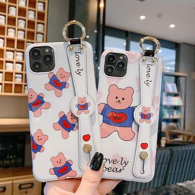 Недорогие Кейсы для iPhone 6 Plus-Кейс для Назначение Apple iPhone 11 / iPhone 11 Pro / iPhone 11 Pro Max Защита от удара / IMD / С узором Кейс на заднюю панель Животное / Мультипликация ПК