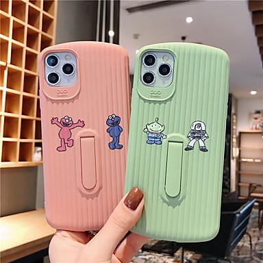 Недорогие Кейсы для iPhone X-мягкий чехол из силикагеля для iphone x мода весело прохладный чехол кожа подростки мальчики девочки чехлы для iphone 6 / iphone 7 / iphone 11 pro / противоударный / пылезащитный с подставкой
