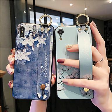 Недорогие Кейсы для iPhone 6 Plus-Кейс для Назначение Apple iPhone 11 / iPhone 11 Pro / iPhone 11 Pro Max Защита от удара / С узором Кейс на заднюю панель Однотонный / Цветы ТПУ