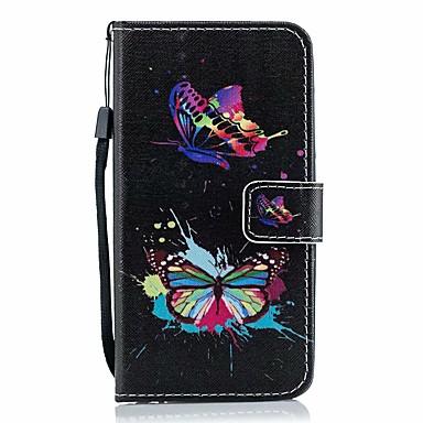 Недорогие Кейсы для iPhone 6 Plus-чехол для яблока iphone 11 / iphone 11 про макс дворцовый цветок искусственная кожа со слотом для карт откидывается вверх и вниз для iphone5 / 6/7/8 / 6p / 7p / 8p / x / xs / xr / xs mas