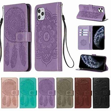 Недорогие Кейсы для iPhone X-чехол для apple iphone 11/11 pro / 11 pro кошелек / визитница / с подставкой для всего тела чехлы из натуральной кожи pu / tpu для iphone x / xs / xr / xs max / 8 plus / 7 plus / 6 plus