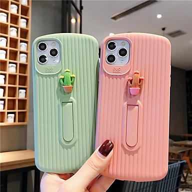 Недорогие Кейсы для iPhone X-мягкий чехол силикагеля для iphone x милый кактус мода прохладный чехол кожа подростки девочек чехлы для iphone 6 / iphone 7 / iphone 11 pro / противоударный / пылезащитный с подставкой