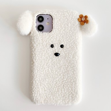 Недорогие Кейсы для iPhone 6 Plus-чехол для iphone 11 slim fit беспроводное зарядное устройство совместимый защитный мягкий тпу амортизирующий бампер чехол 3d милая собака защитная кожа подходит для iphone7 / iphone 8 / iphone x