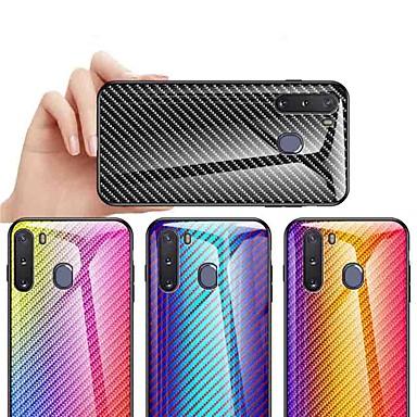 Недорогие Чехлы и кейсы для Galaxy А-Кейс для Назначение SSamsung Galaxy S9 / S9 Plus / S8 Plus Защита от удара / Защита от пыли / Ультратонкий Кейс на заднюю панель Градиент цвета Углеродное волокно