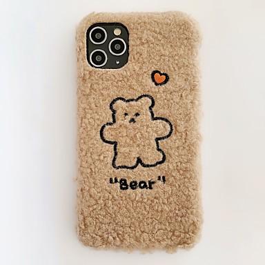 Недорогие Кейсы для iPhone 7 Plus-Мода iphone 11 pro max чехол милый медведь в форме сердца плюшевый чехол защитный гибкий мягкий чехол для Apple iPhone iphone 11 pro max / iphone 7 / iphone 8 / iphone x