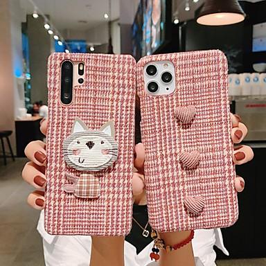 Недорогие Кейсы для iPhone 7-iphone x чехол iphone xs чехол ebetterr плед защитный чехол матовый приталенный противоударный противоударный мягкий бампер ТПУ гибкий резиновый чехол для iphone 6 / iphone 7 / iphone 11