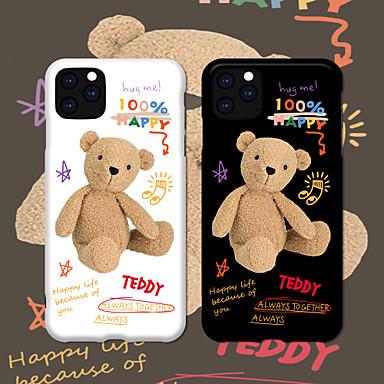 Недорогие Кейсы для iPhone X-Модный чехол для iphone 11 милый живой мультфильм imd медведь матовый чехол slim fit мягкий защитный чехол для Apple iPhone 7 / iPhone 8