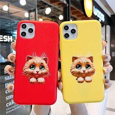Недорогие Кейсы для iPhone X-мягкий чехол из силикагеля для iphone x забавная кошка мода прохладный чехол кожа подростки мальчики девочки чехлы для iphone 6 / iphone 7 / iphone 11 pro / противоударный / пылезащитный с подставкой
