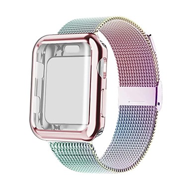 abordables Correas para Apple Watch-Ver Banda para Apple Watch Series 5/4/3/2/1 Apple Correa Milanesa Acero Inoxidable Correa de Muñeca