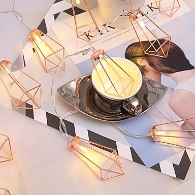 povoljno LED strip svjetla-1.5m Žice sa svjetlima 10 LED diode Toplo bijelo Ukrasno AA baterije su pogonjene 1set