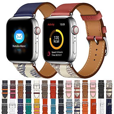 Недорогие Ремешки для Apple Watch-Apple Smart Watch кожаный ремешок серии 5/4/3/2/1 iwatch спортивные бизнес-группы высокого класса мода комфортно здоровье натуральная кожа браслеты