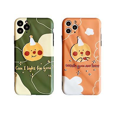 Недорогие Кейсы для iPhone 7 Plus-Кейс для Назначение Apple iPhone 11 / iPhone 11 Pro / iPhone 11 Pro Max Защита от удара / Защита от пыли / С узором Кейс на заднюю панель Полосы / волосы / Мультипликация ТПУ