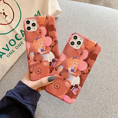 Недорогие Кейсы для iPhone 6 Plus-Кейс для Назначение Apple iPhone 11 / iPhone 11 Pro / iPhone 11 Pro Max Защита от удара / Ультратонкий / С узором Кейс на заднюю панель Однотонный / Животное / Мультипликация ПК