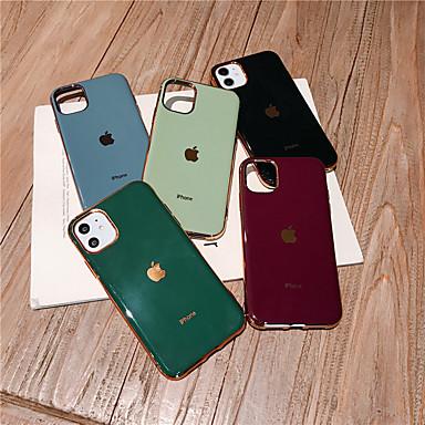 povoljno Maske za mobitele-Θήκη Za Apple iPhone 11 / iPhone 11 Pro / iPhone 11 Pro Max Otporno na trešnju / Ultra tanko Stražnja maska Igra s Appleovim logom / Jednobojni TPU