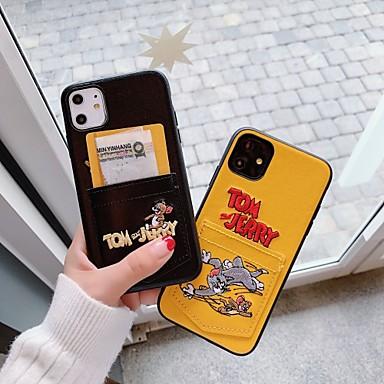 Недорогие Кейсы для iPhone 7-Кейс для Назначение Apple iPhone 11 / iPhone 11 Pro / iPhone 11 Pro Max Бумажник для карт / Защита от удара Кейс на заднюю панель Мультипликация Кожа PU
