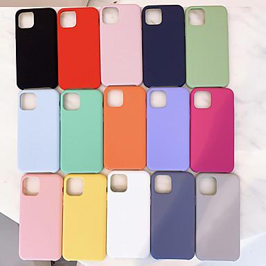 baratos Capinhas para Celulares-Capinha Para Apple iPhone 11 / iPhone 11 Pro / iPhone 11 Pro Max Antichoque / Ultra-Fina Capa traseira Sólido TPU